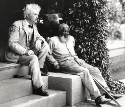 Mark Twain with author John Lewis