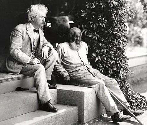 Mark Twain with author John Lewis