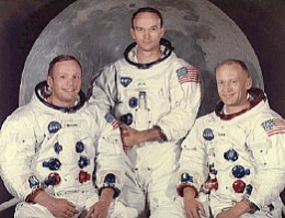 As simple as A B C- Neil Armstrong, Buzz Aldrin and Michael Collins