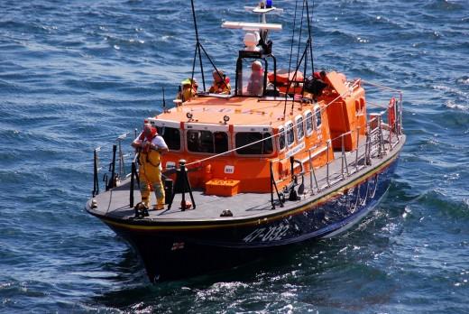 Current Douglas lifeboat 'Sir William Hillary'   David Lloyd-Jones 2010