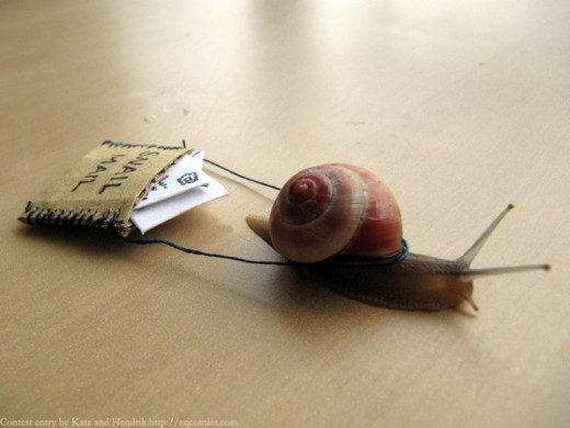 Snail mail is just not a good method these days!