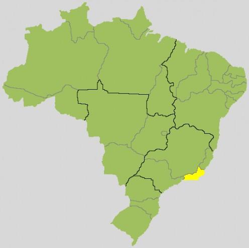 Map location of Rio de Janeiro, in Brazil