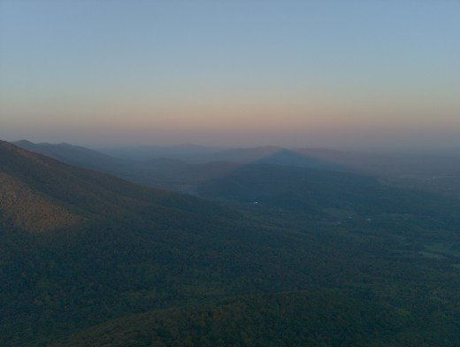 The view from the top of Sharp Top