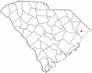 Map location of Conway, South Carolina