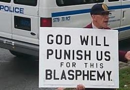 """God Will Punish Us for this Blasphemy"""