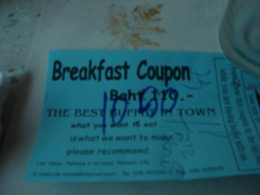 Pattaya discount coupons