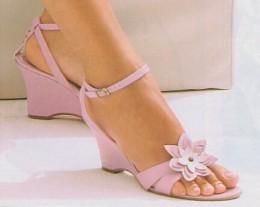 Pink sandals with matching nail polish