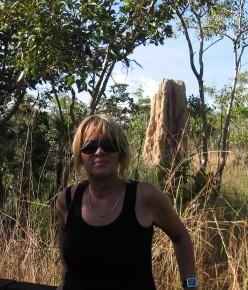 Sheila with Termite Mound