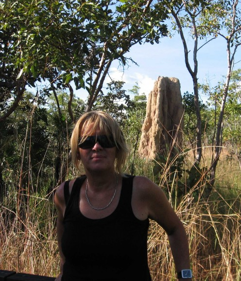 Sheila with Termite Mound
