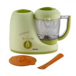 All-in-one baby food makers can cook and puree food for baby in one container.