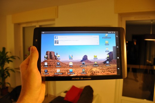 The Archos 101 Internet Tablet