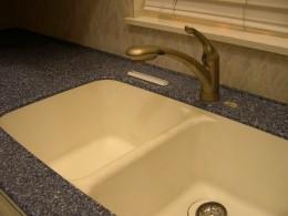 Home kitchen sinks often have garbage disposers installed to help get rid of kitchen waste.
