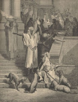 Image of the story of the rich man and Lazarus