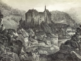 19th century view of Clervaux