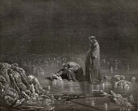 Phlegethon (a river in Hades), by Gustave Dor