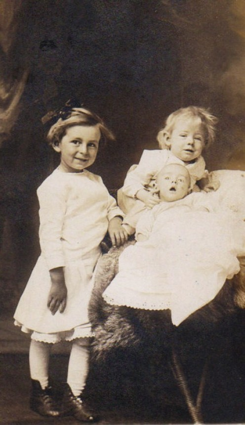 Daisy and Her Two Younger Brothers, Phil and Infant Norman