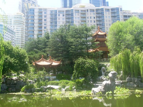 Lake of Brightness and The Gurr in the Chinese Garden of Friendship