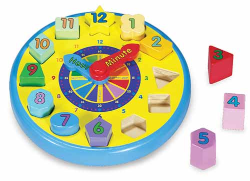 Melissa and doug wooden clock - Educational game for 4 year old