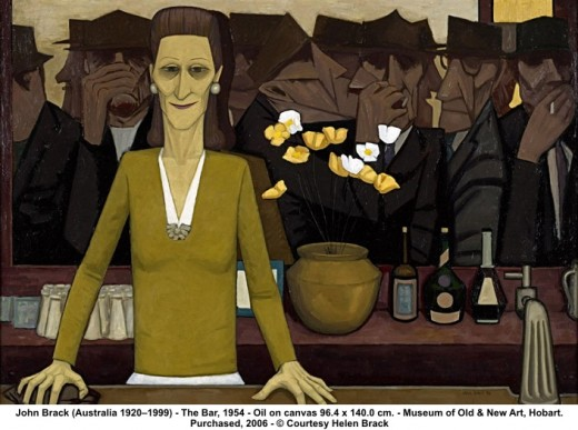 National Gallery of Victoria acquires the John Brack Masterpiece ~ 'The Bar'