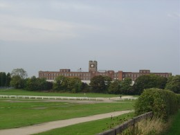 View from the road: Racecourse and Terry's Old Chocolate factory