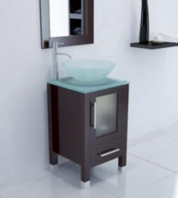 The Soft Focus vanity from Bathgems is a lovely addition to a guest bathroom or other small bathroom