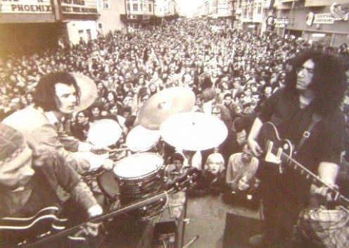 Grateful Dead in concert on Haight Street