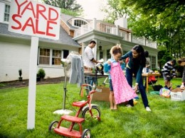 The early bird gets the worm and this is very important if your going to yard and garage sales.
