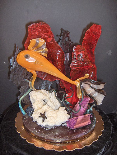 Isomalt sugar sculpture. Image courtesy Flickr through a creative commons license.