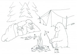 Wytegarillaz love to go camping in the bush near water . They love to cook their meals on the open fire !