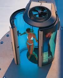 This is the actual tanning machine I was in.