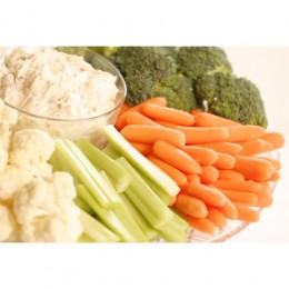 Fresh vegetables and dip
