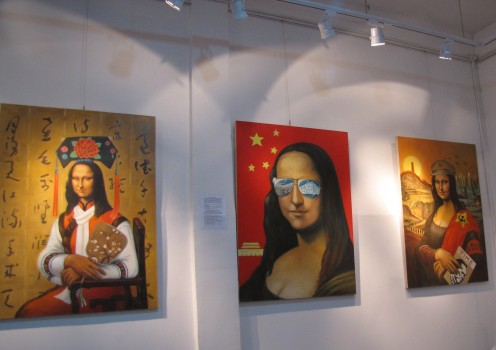 Mona Lisa's at Art Gallery