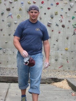 I chose this picture because I look fat in it. I am at a rock climbing gym in case you were wondering. And yes, rock climbing is quite difficult when you are that chubby.