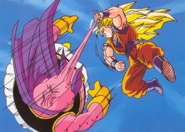 Will our heroes beat the persistent and candy loving Majin buu?
