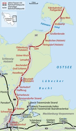 Map location of Luebeck and its Baltic Sea outlet