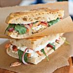 Salmon Panini sandwich