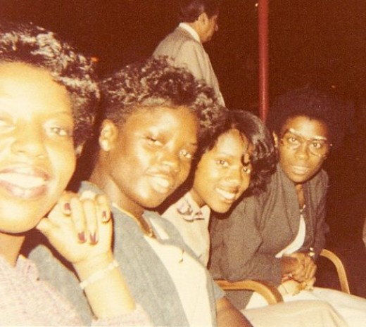 I am second to left amongst my friends celebrating graduating.  We are at the Disco, Rose-land, in Manhattan almost 31 years ago.  I do not know who took the picture.  LOL.