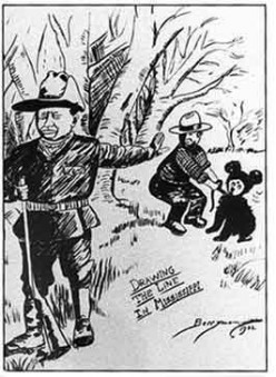 This was one of many published cartoons making light of that day and used to mock Teddy Roosevelt politics