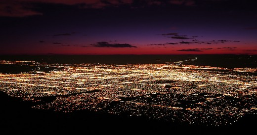 Albuquerque is a sprawling city that is beautiful from a distance