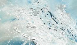 Wave, detail showing splattering technique