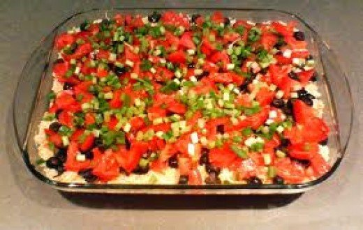 Cheesy Mexican 7 Layer Dip