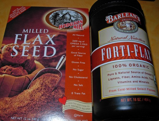 Both kinds of ground flax seed. Choose one.