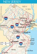 Northern New Jersey map showing mountains