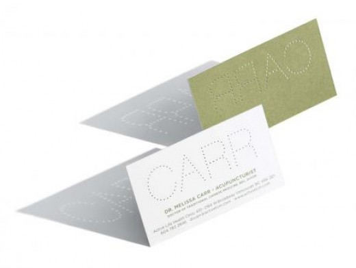 Business Card Template for Accupuncturists