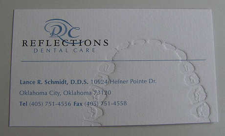 Business Card for Dentists (especially those who recommend brushing a lot)