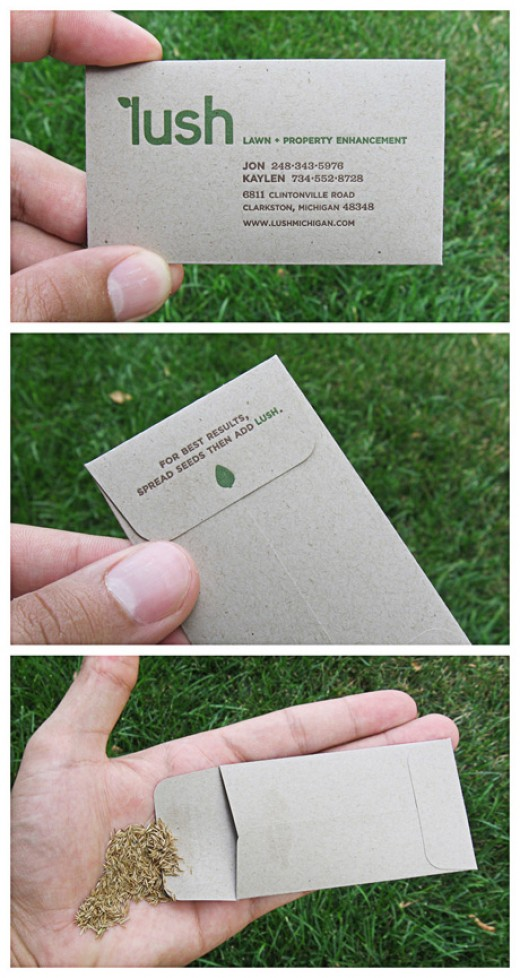 Business Card for Environmentalists (and there's a giveaway inside!)