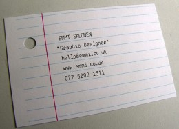 Business Card for Office Workers (office scrap is an alternative especially when you run out of paper!)