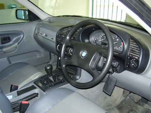 The interior of the E36