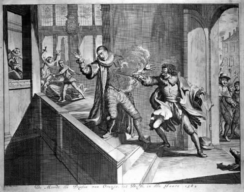 The assassination of William the Silent. Image via Wikipedia