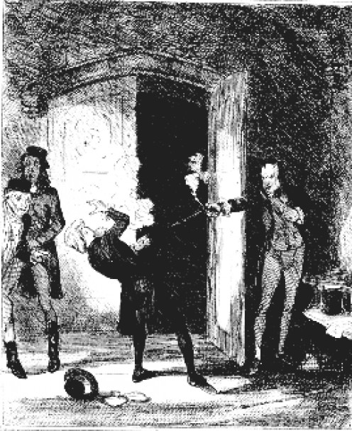 Bellingham shoots Perceval in the lobby of the House of Commons. Image Wikipedia
